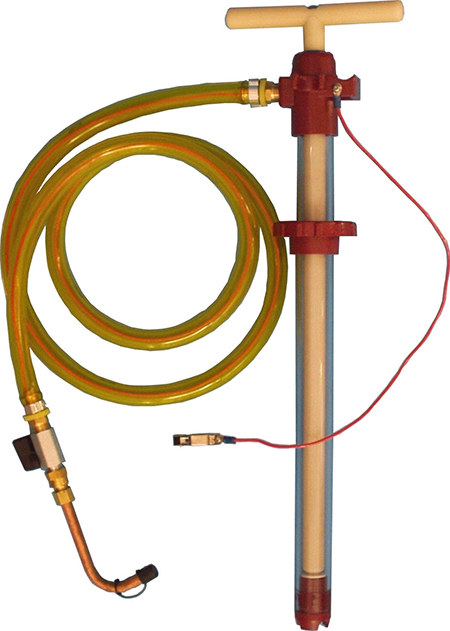 Static Dissipating Five Gallon Bucket Filter Pumper with a six foot static dissipating hose, soldered brass fittings, and A10 accessory